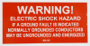 "SOL105 - 4"" X 2"" - ""WARNING! ELECTRIC SHOCK HAZARD, IF A GROUND FAULT IS INDICATED NORMALLY GROUNDER CONDUCTORS MAY BE UNGROUNDED AND ENERGIZED"""