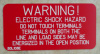 "2"" X 4"" Engraved Solar Placard - ""WARNING: ELECTRIC SHOCK HAZARD, DO NOT TOUCH TERMINALS....."""