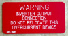 "2"" X 4"" Engraved Solar Placard -""WARNING: INVERTER OUTPUT CONNECTION, DO NOT RELOCATE....."""