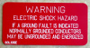 "2"" X 4"" Engraved Solar Placard - ""WARNING: ELECTRIC SHOCK HAZARD, IF A GROUND FAULT IS INDICATED...."