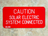 "2"" X 4"" Engraved Solar Placard - ""CAUTION: SOLAR ELECTRIC SYSTEM CONNECTED"""