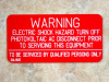 "2"" X 4"" Engraved Solar Placard - ""WARNING, TURN OFF PHOTOVOLTAIC AC DISCONNECT....."""